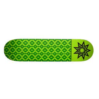 Zerodraline Green Pattern Skateboard