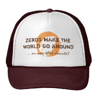 ZEROS & DONUTS hat brown