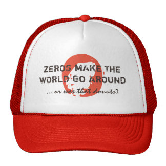 ZEROS & DONUTS red Cap