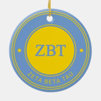 Zeta Beta Tau | Badge Ceramic Ornament