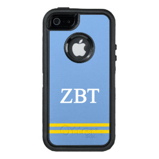 Zeta Beta Tau | Sport Stripe OtterBox Defender iPhone Case