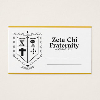 Zeta Chi Business Cards
