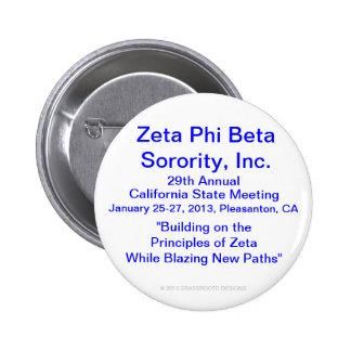 Zeta Phi Beta Sorority, Inc., 29th Annual Meeting 6 Cm Round Badge