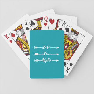 Zeta Tau Alpha Arrow Playing Cards