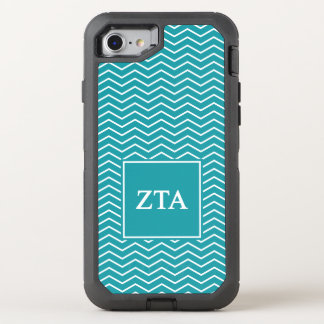 Zeta Tau Alpha | Chevron Pattern OtterBox Defender iPhone 8/7 Case
