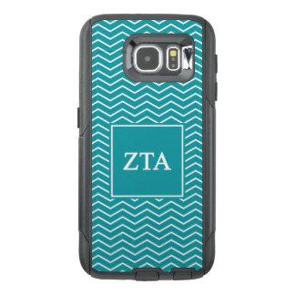 Zeta Tau Alpha   Chevron Pattern OtterBox Samsung Galaxy S6 Case