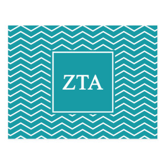 Zeta Tau Alpha   Chevron Pattern Postcard