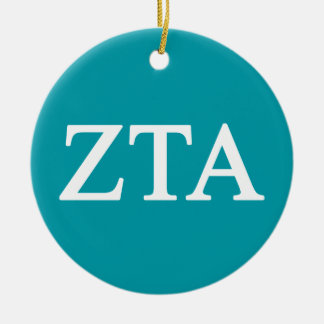 Zeta Tau Alpha Lil Big Logo Ceramic Ornament