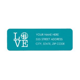 Zeta Tau Alpha Love Return Address Label