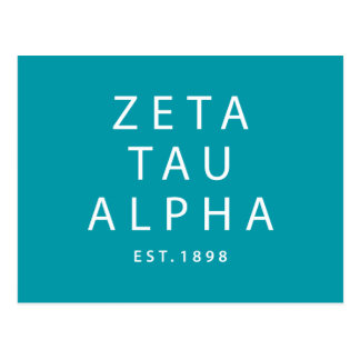Zeta Tau Alpha Modern Type Postcard