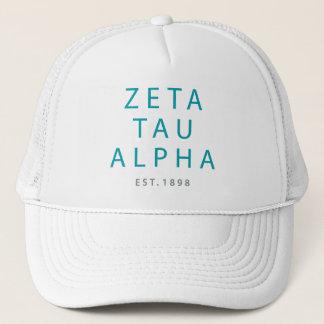 Zeta Tau Alpha Modern Type Trucker Hat