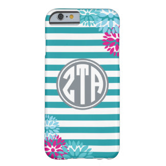 Zeta Tau Alpha | Monogram Stripe Pattern Barely There iPhone 6 Case
