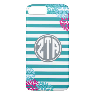 Zeta Tau Alpha | Monogram Stripe Pattern iPhone 8 Plus/7 Plus Case