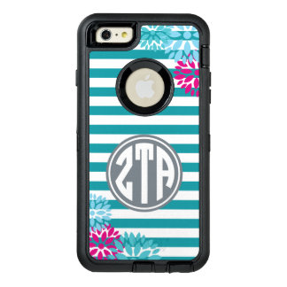 Zeta Tau Alpha | Monogram Stripe Pattern OtterBox Defender iPhone Case