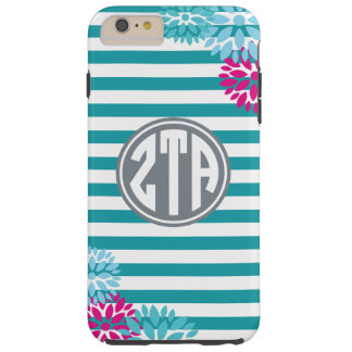 Zeta Tau Alpha   Monogram Stripe Pattern Tough iPhone 6 Plus Case