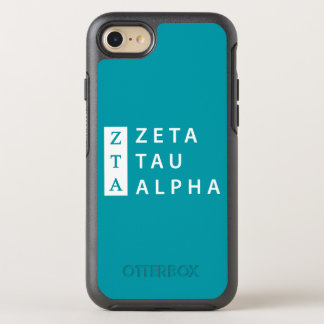 Zeta Tau Alpha Stacked OtterBox Symmetry iPhone 8/7 Case