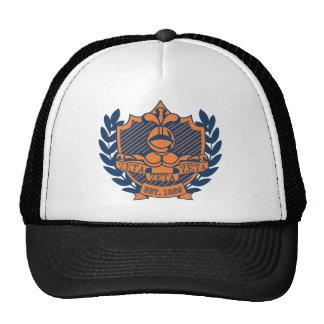 Zeta Zeta Zeta Fraternity Crest - Navy/Orange Cap