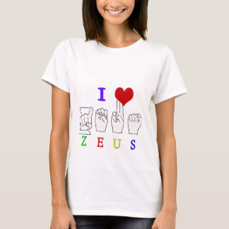 ZEUS ASL FINGERSPELLED MALE NAME T-Shirt