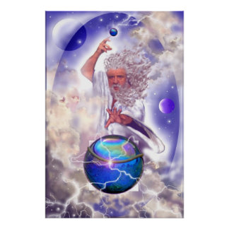 Zeus; God of the Heavens Poster