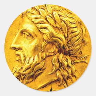 Zeus Gold Coin Rewards Sticker