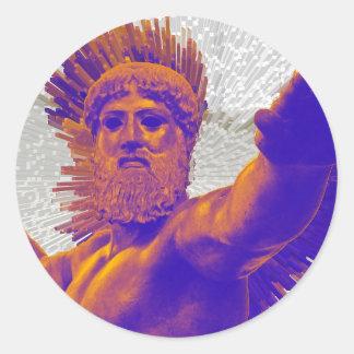 Zeus  - Jupiter Classic Round Sticker