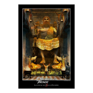 Zeus Statue At Olympia Poster