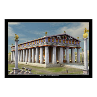 Zeus Temple at Olympia Poster
