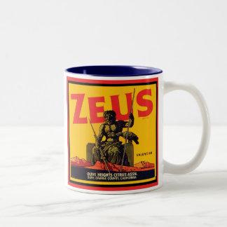 Zeus Vintage Crate Label - Olive Hts Citrus Assn. Mugs