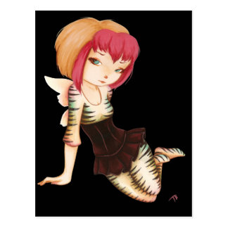 Zevra -  fantasy fairy goth art postcard