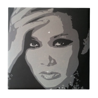 Zhang Mi (Mimi) original pop art portrait Tile