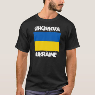 Zhovkva, Ukraine with Ukrainian flag T-Shirt