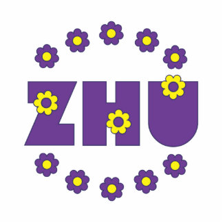 Zhu in Flores Purple Cut Outs