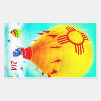 Zia balloon rectangular sticker