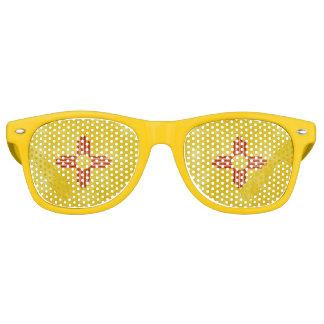 Zia Indian Red Sun Symbol Retro Sunglasses