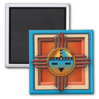 Zia Sun Face Square Magnet