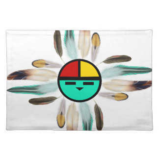 Zia Sun God with Feathers Placemat