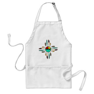 Zia Sun God with Feathers Standard Apron