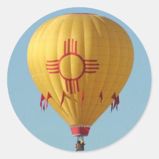 Zia Sun Symbol Hot Air Balloon Sticker