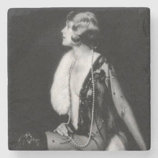 Ziegfeld Follies Chorus Girl Stone Coaster