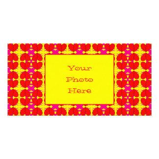 Zig-n-Zag Broken Hearts Personalized Photo Card
