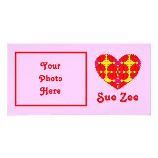 Zig-n-Zag Hearts Custom Photo Card