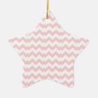 Zig pink and white Zag Ceramic Star Decoration