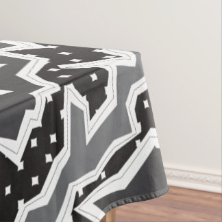 Zig River Black & White Fill Tablecloth