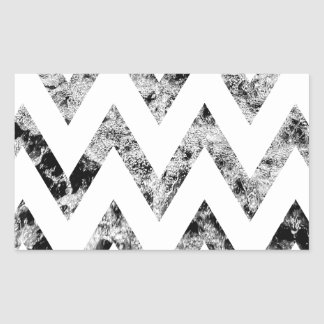 Zig saw Print - black prints blank Black White Rectangular Sticker