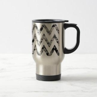 Zig saw Print - black prints blank Black White Travel Mug