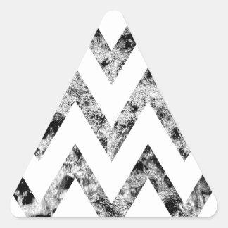 Zig saw Print - black prints blank Black White Triangle Sticker