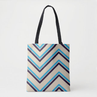 """Zig-Zag 2"" Geometric Design - Tote Bag"