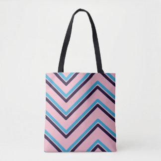 """Zig-Zag 3"" Geometric Design - Tote Bag"