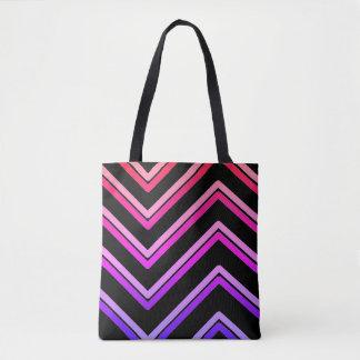 """Zig-Zag 4"" Geometric Design - Tote Bag"