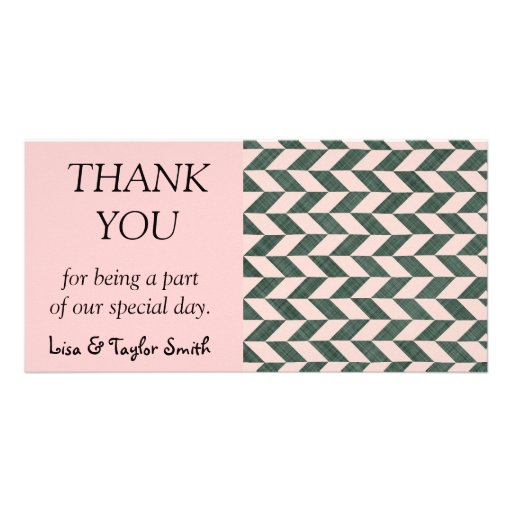 Zig zag abstract pattern photo cards